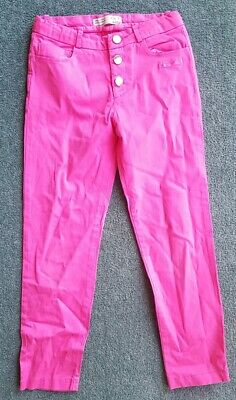 Girls Zara Skinny Cord Trousers Pink Age 7 Years 3