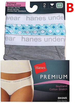 c4049f93f8fb ... Hanes Women's Panties BIKINIS Boyfriend Cotton Strech 2-Pack P242AS
