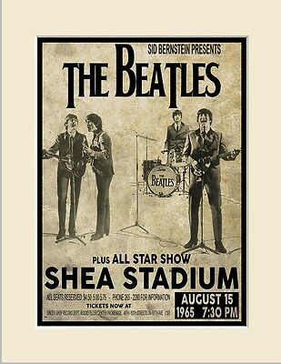 The Beatles 1965 First Shea Stadium Concert Three Print Options or Framed Poster 3