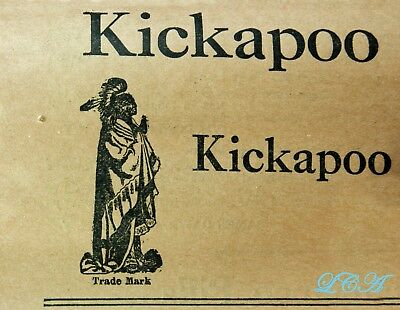 The Real Thing = KICKAPOO INDIAN OIL antique QUACK MEDICINE bottle IN orig. BOX 4
