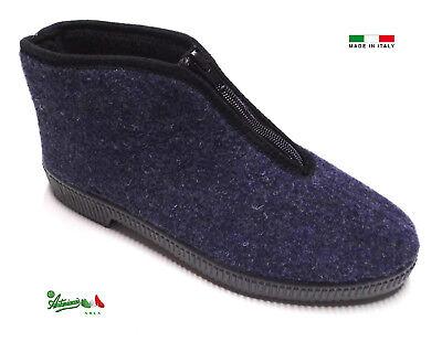 Pantofole Ciabatte Uomo Cerniera Italiane Economiche Calde Invernali Grigie Blu Eur 9 90 Picclick It