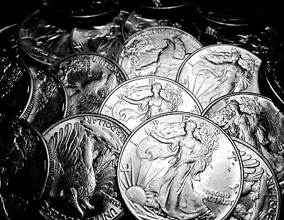 1916-1947 ~**(1)ABOUT UNC AU**~ Silver Walking Liberty Half Dollar US Coin Lot! 2