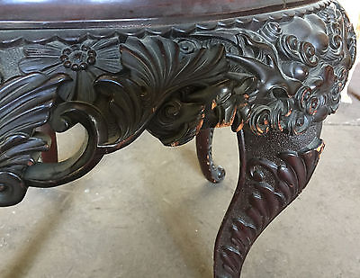 "ANTIQUE CHINESE CARVED TABLE STAND  36"" Diameter  ""T875"" 9"