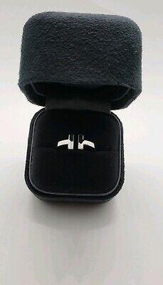 Tiffany&Co T Square Ring In 18K White Gold 2