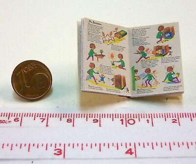10 kleine Heinzelmännchen Puppenhaus-Puppenstube M1zu12 1124# Miniaturbuch