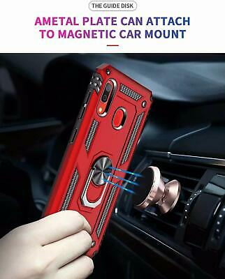 For Samsung Galaxy A20 A50 A70 A10e Shockproof Case 360 Magnetic Ring Armour 6