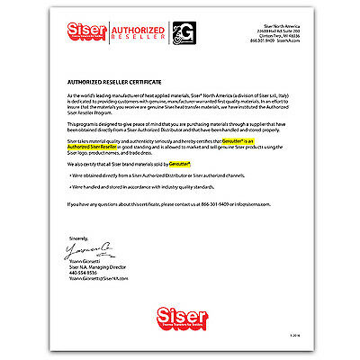 """Siser easyweed iron-on htv heat transfer vinyl 12"""" wide x 1, 3, and 5 yards 4"""