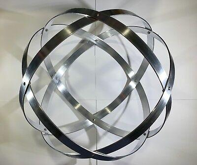 Genesa Crystal diametro 31 cm alluminio naturale argento profilo 2 cm. 3