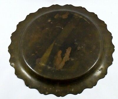 Rare Antique Great Old Calligraphy Brass Islamic Mughal Religious Plate.G3-32 US 3