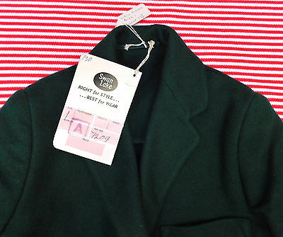 Vintage 1950s blazer green UNUSED girls school uniform Swan Lake Arthur Howard 3