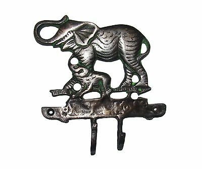 An Attractive Elephant with Calf Designed COAT HOOK (Very Beautiful) from India 2