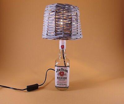 JimBeam - Flaschen Lampe Tischlampe LED 220V mit Schalter SEHR ORIGINELL S1-Korb 8