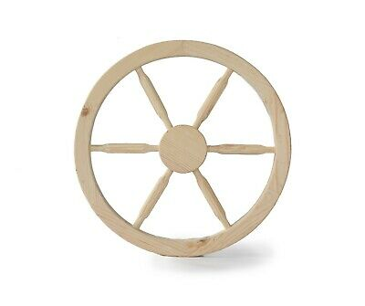 Large Wooden cart wheel 80 cm - Wagon wheel - Home garden decorative wheel 2