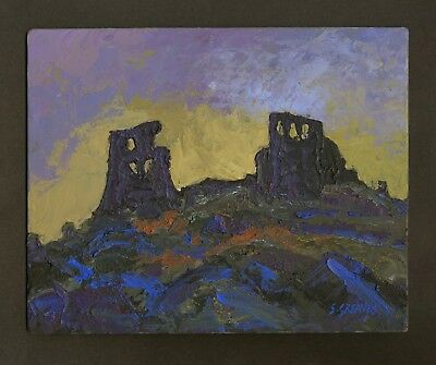 Welsh Castle ORIGINAL LANDSCAPE PAINTING Dryslwyn Steve Greaves Art Wales Kyffin 2