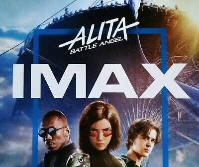 "ALITA BATTLE ANGEL Official Movie 13"" x 19"" PREMIERE NIGHT IMAX Promo Poster 2"
