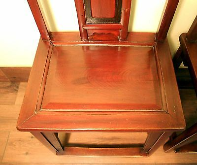 Antique Chinese Ming Chairs (5435) (Pair), Zelkova Wood, Circa 1800-1949 4