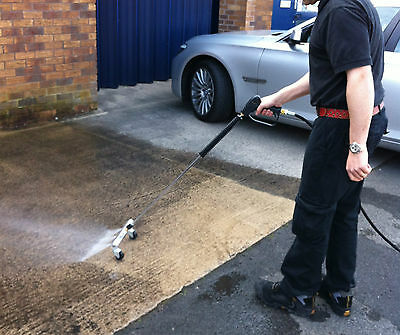 Water Broom M22 Jet Wash Gun with Roller Nozzle Bar Attachment 250 bar Hose Kit 2