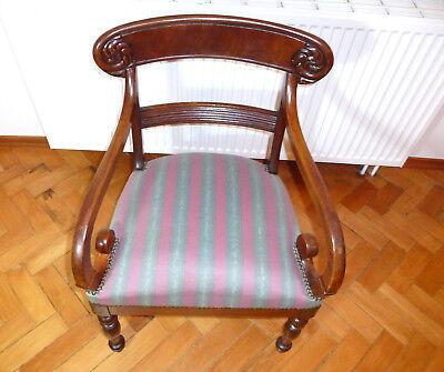 Ausgefallener alter Sessel Spätbiedermeier um 1850 2