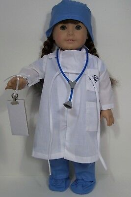 "Nurse Doctor Stethoscope /& Chart Fits 18/"" American Girl Doll Accessories HRT"