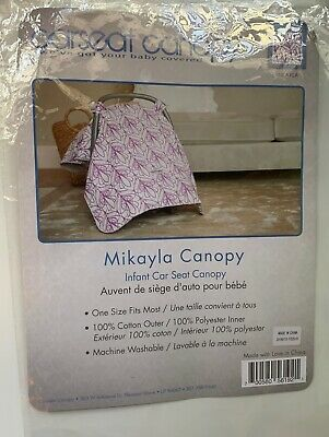 Used ~Mikayla Pattern Baby Carseat Cover Canopy Couture Brand~ Excellent Cond 7
