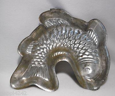 ++ Kupfer Backform  - Fisch  - gestempelt 22,5 x 20 cm  ++ 6