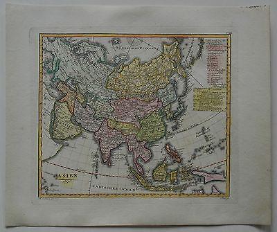 Asien 1795 - Gesamtasien - Seltener Kupferstich von Daniel Friedrich Sotzmann