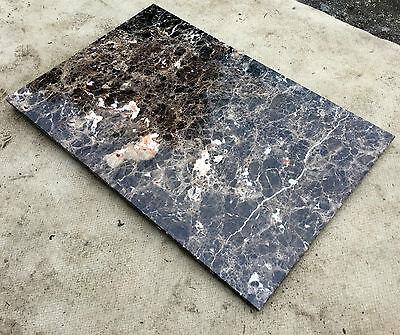 naturstein platte abdeckung esstischplatte marmor tischplatte steinplatte braun eur 299 99. Black Bedroom Furniture Sets. Home Design Ideas