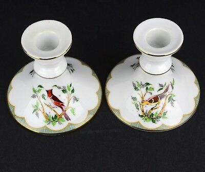 Georges Briard Porcelain CANDLESTICKS Birds 3