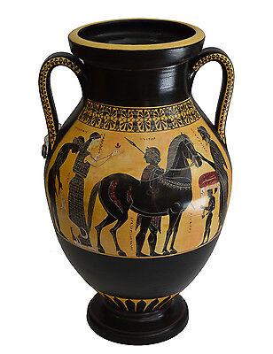 Achilles and Ajax - Exekias - Ancient Greek Amphora Vase- Vatican Museum Replica 3