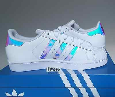 93ce56781ac ... Adidas Superstar J Junior Iridescent Hologram GS AQ6278 Boys Girls  Shell Toe 6