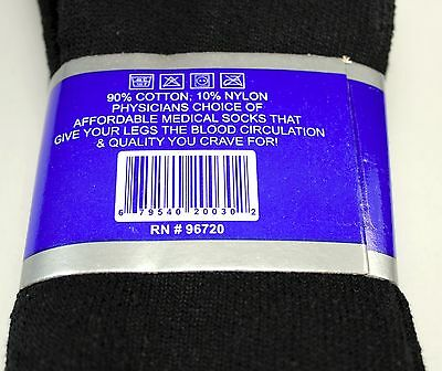 Lot 3 6 12 Pairs Mens Circulatory Diabetic Crew Socks Health Cotton Physicians