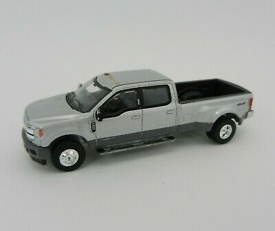 1:64 GreenLight *ANNIVERSARY COLLECTION* Silver 2019 Ford F350 Dually Pickup NIP 3