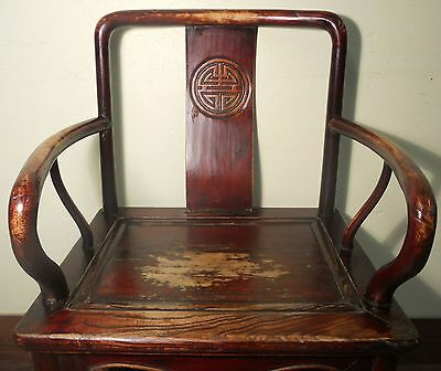 Antique Chinese Ming Arm Chair (5921), Cypress Wood, Circa 1800-1849 4