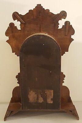 Antique Working 1870's Waterbury Clock Co. Victorian Walnut Parlor Mantel Clock 9