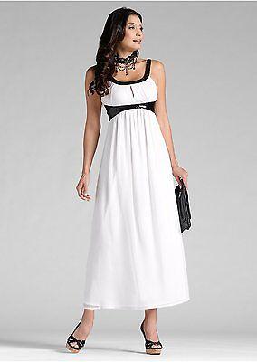 on sale 9bcc5 b3a6c EMPIRE ABENDKLEID GR.34,36 langes Kleid Maxikleid Chiffon Maxi DRESS weiß  NEU
