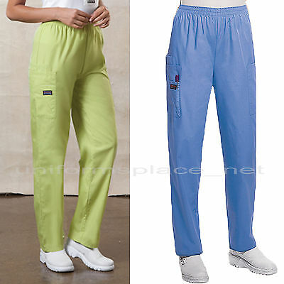 e8b28da2121 ... Cherokee Workwear Scrubs Pants Women Cargo Pocket Pull on Elastic Waist  4200 2