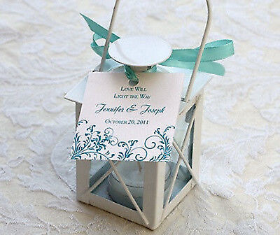 10 LOT SMALL MINI white Candle Holder lantern wedding favor ...