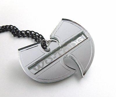 Wu Tang Clan Halskette Laser geschnitten gravierten Spiegel Kunststoff 2