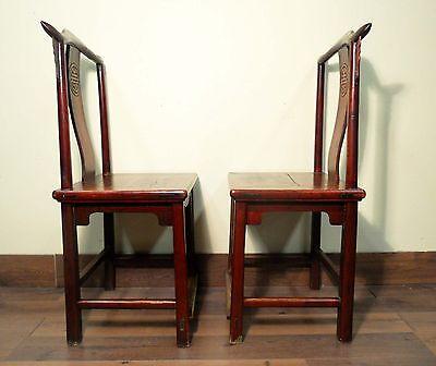 Antique Chinese High Back Chairs (Pair) (5495), Circa 1800-1849 9