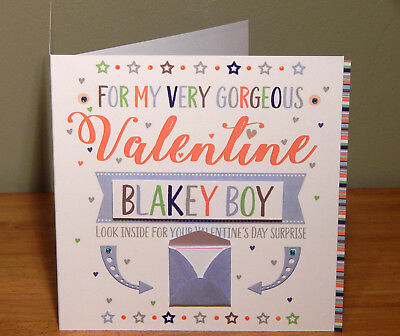 Special Valentine's Day surprise reveal card Personalised Valentine cards 11