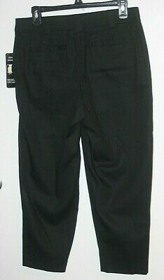 NEW Counterparts Women's Black Stretch Capris Size 8 2