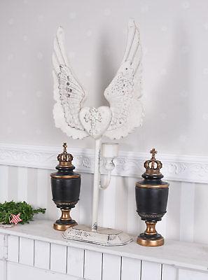 Kerzenleuchter Kerzenhalter Engelsflügel Leuchter Flügel Kandelaber Shabby Chic 6