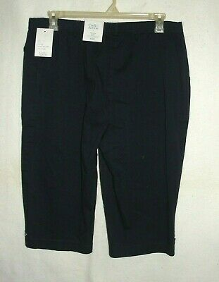 Women's Croft & Barrow Navy Pull On Mid Rise Skimmers - Size XXL - NWT 2