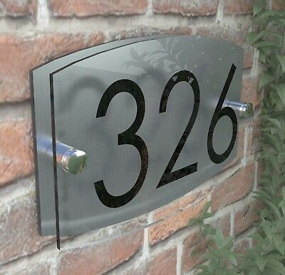 Contemporary House Sign Plaque Door Number 1 - 999 Personalised Name Plate EM27B 5