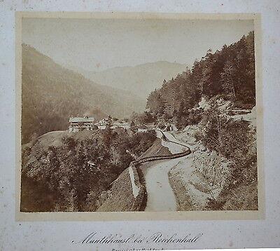 Fotografie,Mauthäusl bei Reichenhall, Oberbayern etwa1900