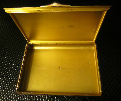 Amazing heavy antique imperial Russian gold (56) cigarette case with cabochon! 4