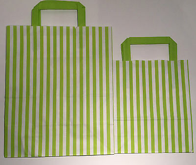FLAT STRIPE Handle Coloured Paper Bags For Parties & Christmas Bags 9