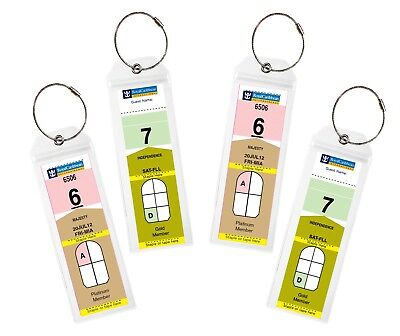 (4/8)Pack NARROW Cruise Tags - Luggage Etag Holder with Zip Seal & Steel Loops 4