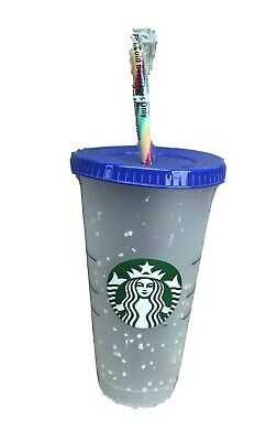Starbucks Confetti Color Changing  2020 cup tumbler 24oz reusable Rainbow Straw 5
