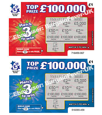 World's Most Realistic - Fake Joke Lottery Scratch Cards Scratchcard Tickets 3